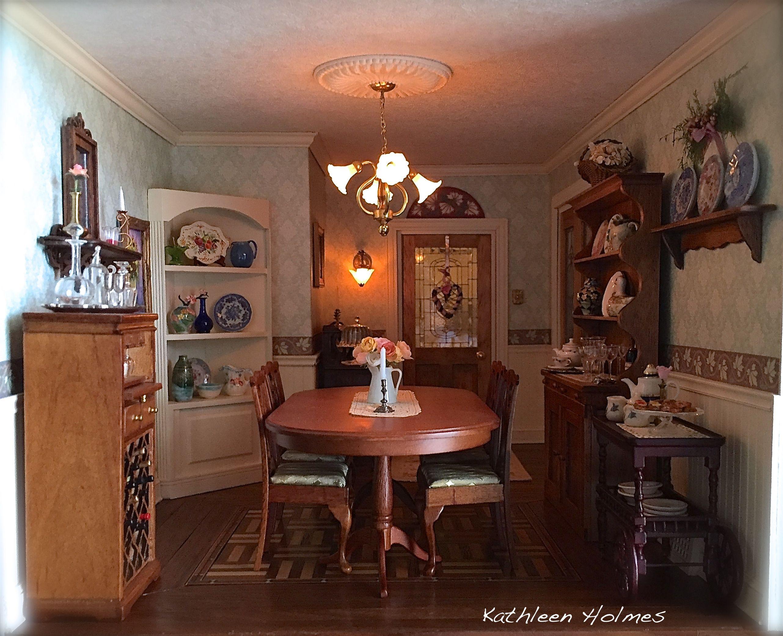Pin von Mari Maciu auf Dollhouse Dining room  Pinterest