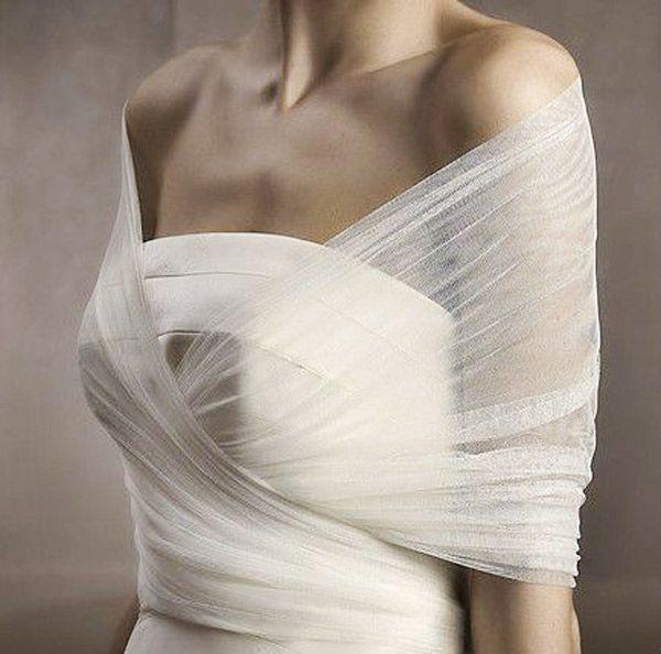 sheer twist wedding dress bolero - brides of adelaide | Wedding ...