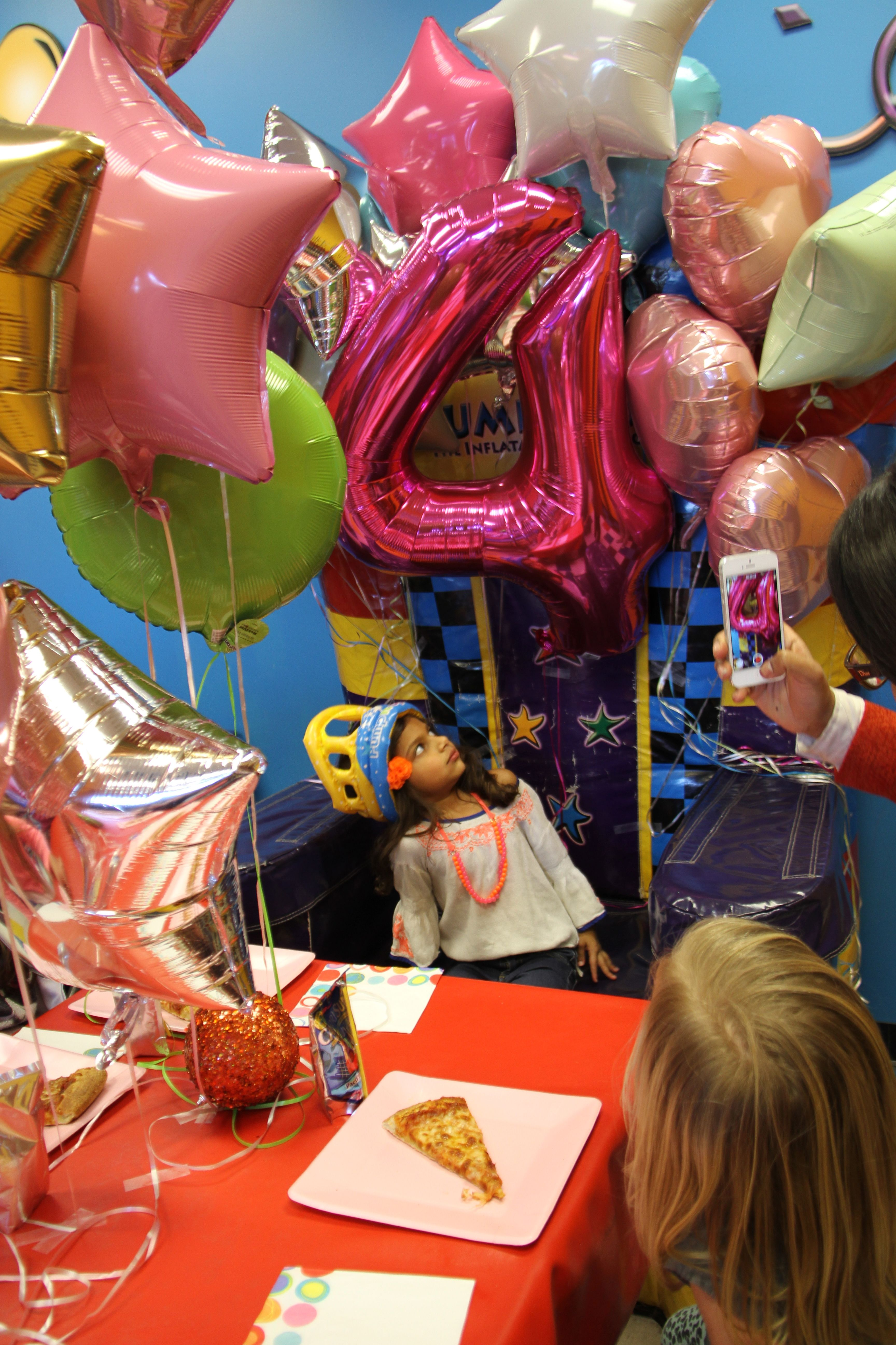 Personalized pump it up birthday throne! Foil balloons