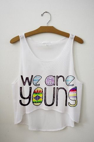 We Are Young Crop Top-Renee