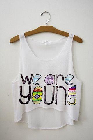 We Are Young Crop Top-Renee