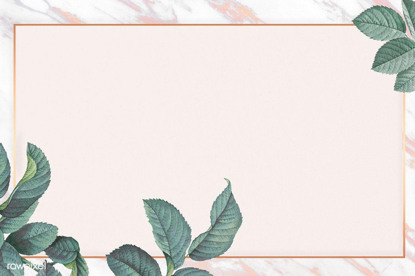 Download Premium Illustration Of Green Leaf Element Background In