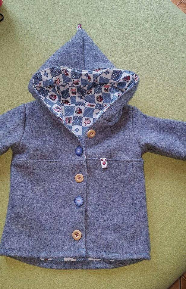 Baby Walkjacke selbst genäht Schnitt von Rabaukennaht Gr.86 Phlipy Mode genäht…