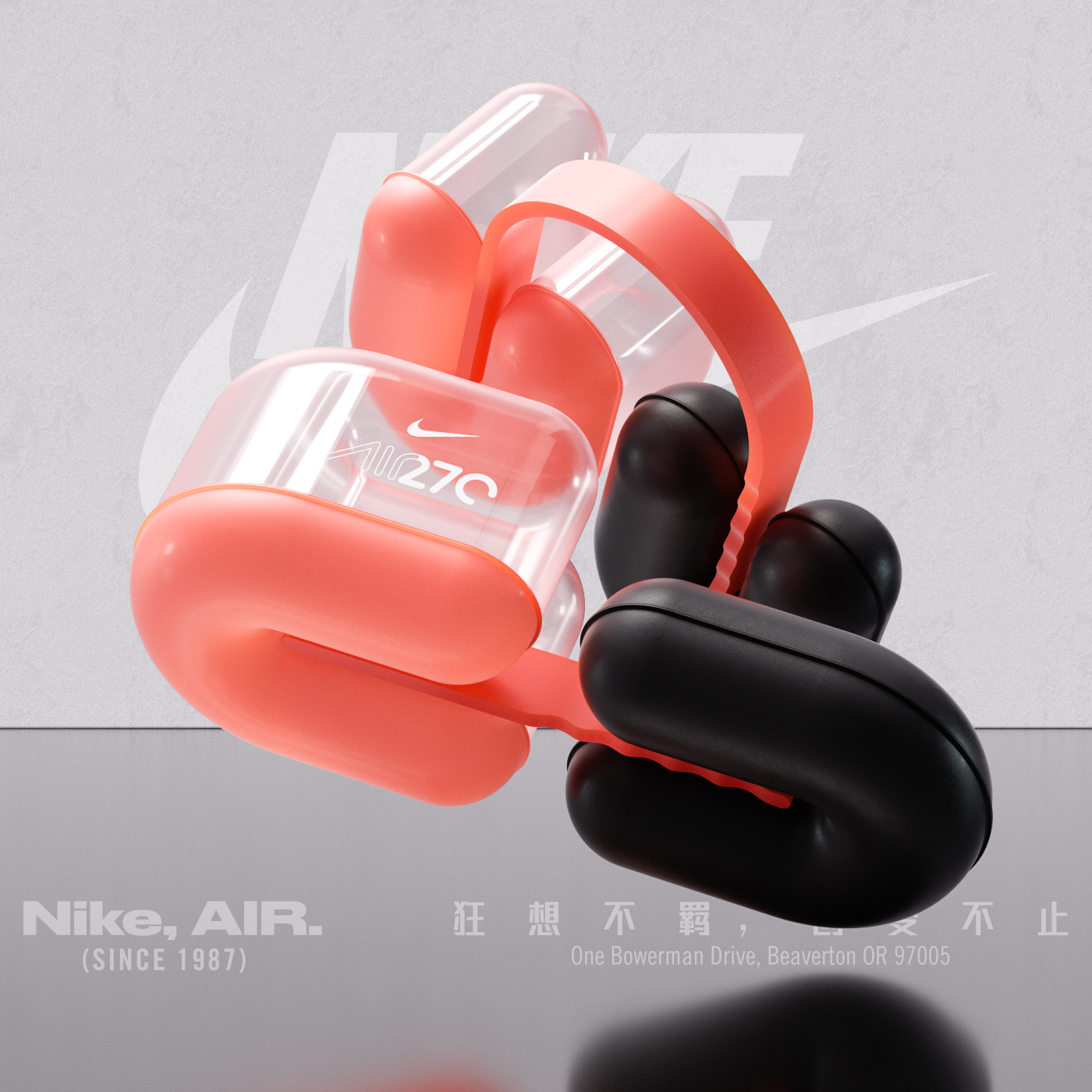 nike air max 720 illustrazione & tipografia 3d pinterest air