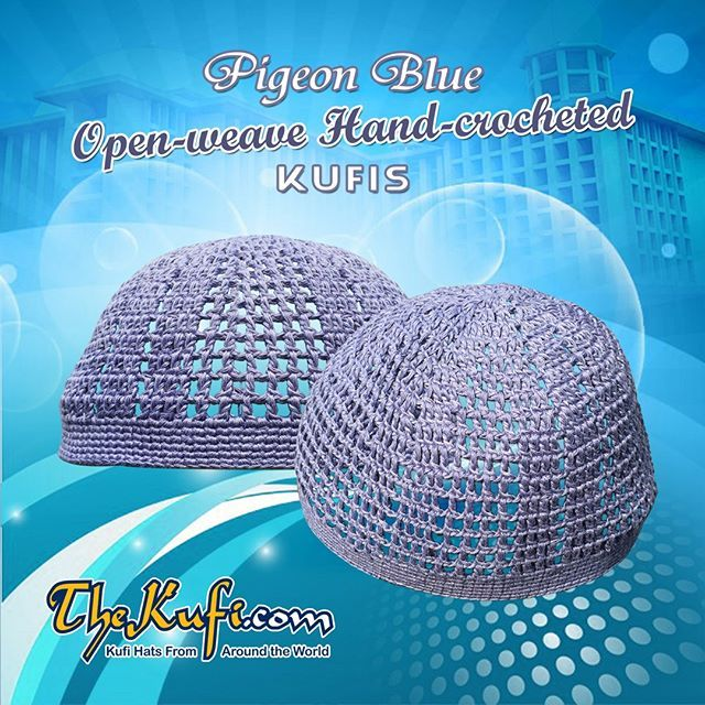 Handcrocheted Open-weave Skull Cap Kufi Hats Made from Soft Cotton www. TheKufi.com  kufis  kufu  SkullCap  PrayerCap  MuslimHats  Muslim   MuslimProduct ... b03686773e5c