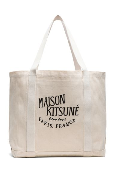 Maison Kitsune|Shopping Bag Deluxe in Cream