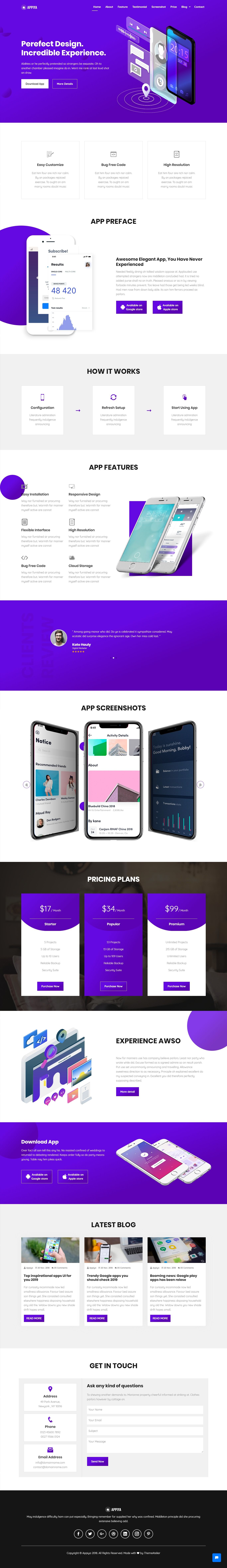 Appiya App Landing Page App landing page, Landing page