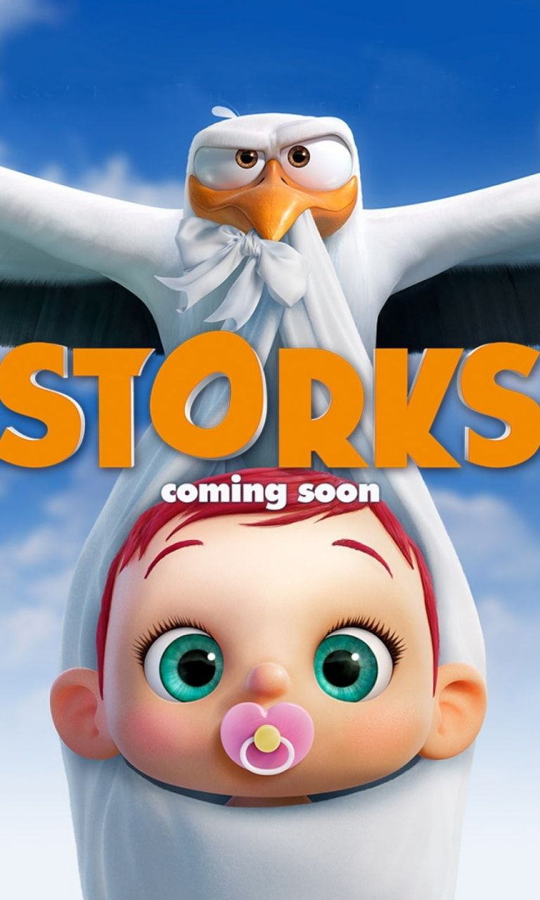 Storks Hd 2016 768 X 1280 Wallpaper Storks Movies Movies