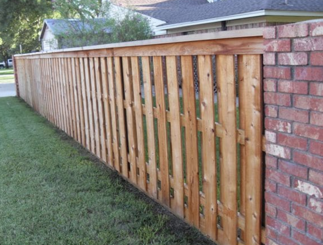Shadowbox Backyard Fences Shadow Box Fence Brick Fence