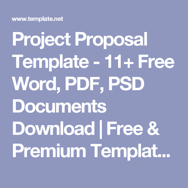 Project Proposal Template 11 Free Word Pdf Psd Documents