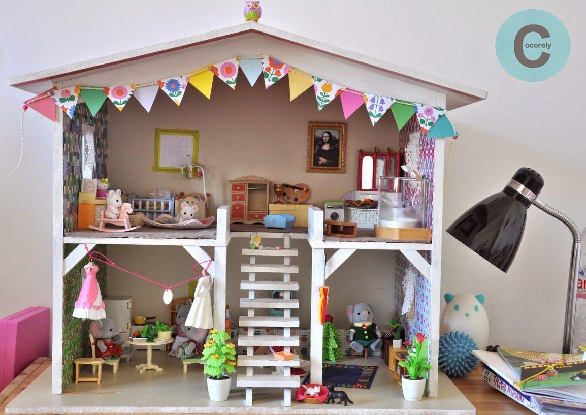les f nt isies de cocorely guirlande de fanions en papier pour maison de poup es diy play. Black Bedroom Furniture Sets. Home Design Ideas