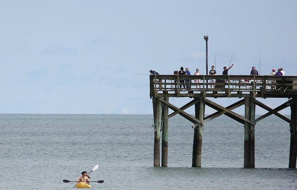 People Fish And Enjoy The Ocean At Springmaid Beach Resort On Friday May 6