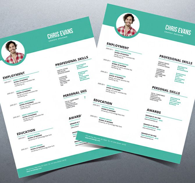 40 Best Free Resume Templates 2017 PSD, AI, DOC Free printable - Resume Templates Website