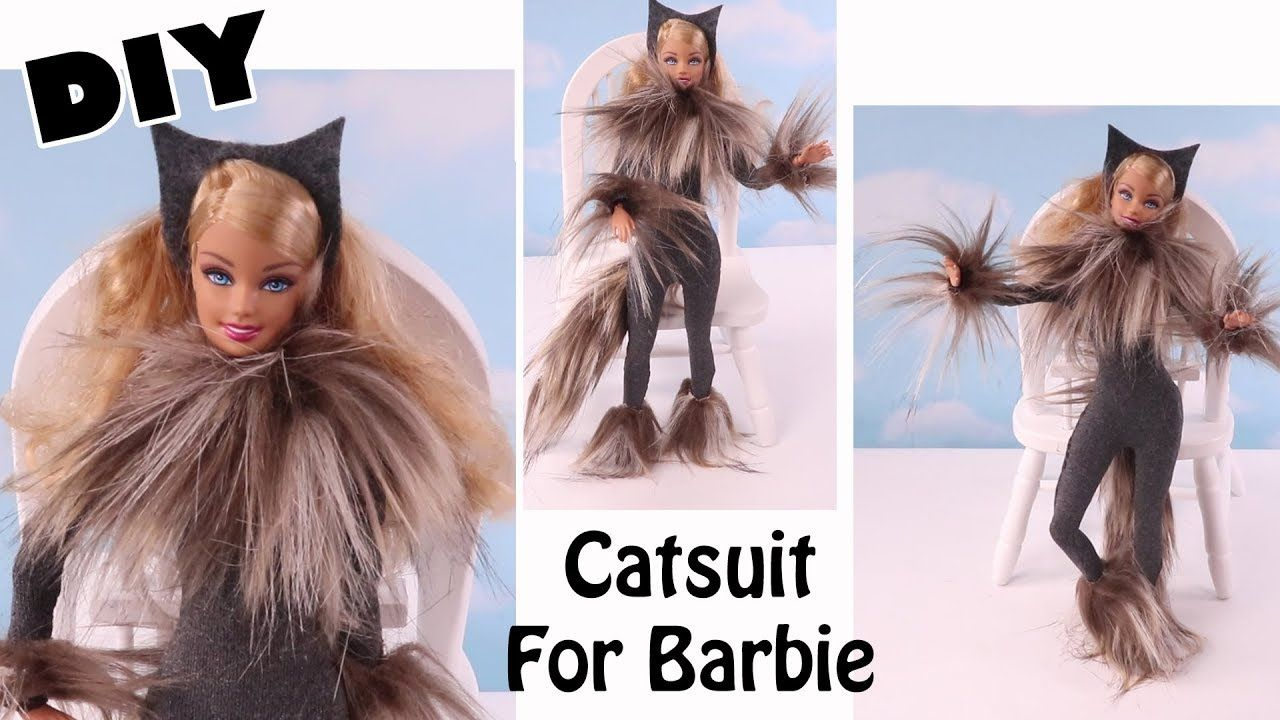 DIY Cats Catsuit Costume for Barbie Just Like In Cats The