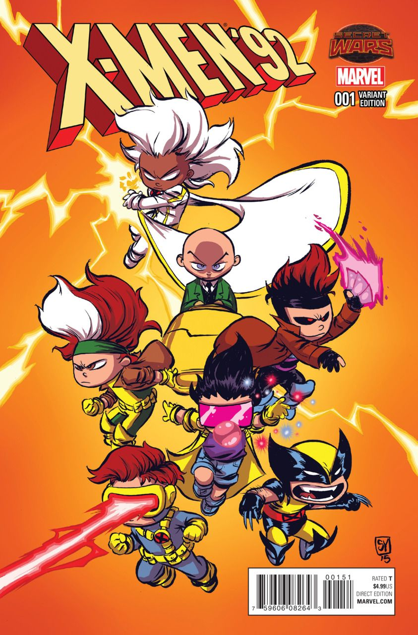 X Men 92 1 Chapter One Hope You Survive The Experience Chapter Two Here Comes Tomorrow Issue Skottie Young Comic Book Artwork Marvel Kids