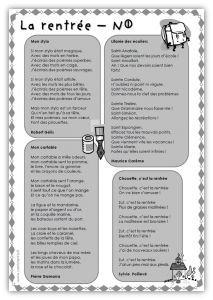 Cm Litterature Recueil De Poesies Par Themes Recueil De Poesie Poesie Cm1 Cm1
