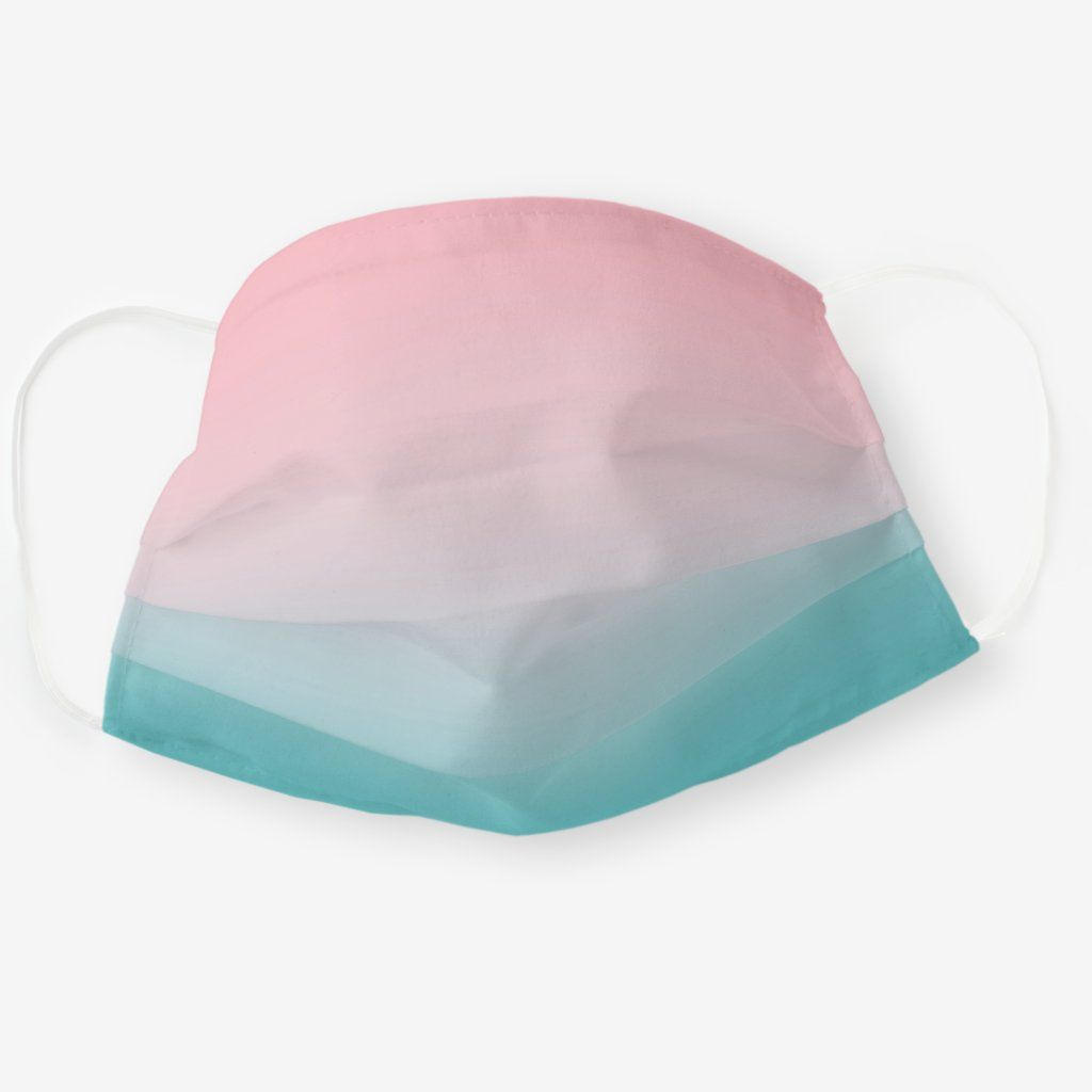 Simple modern minimalist pink turquoise ombre Clot