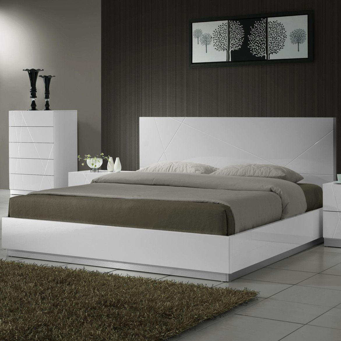 J&M Furniture Naples Panel Bed | w room | Pinterest