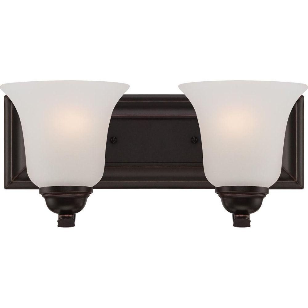 Photo of Elizabeth 2 Light Vanity Fixture, Brown, Nuvo Lighting