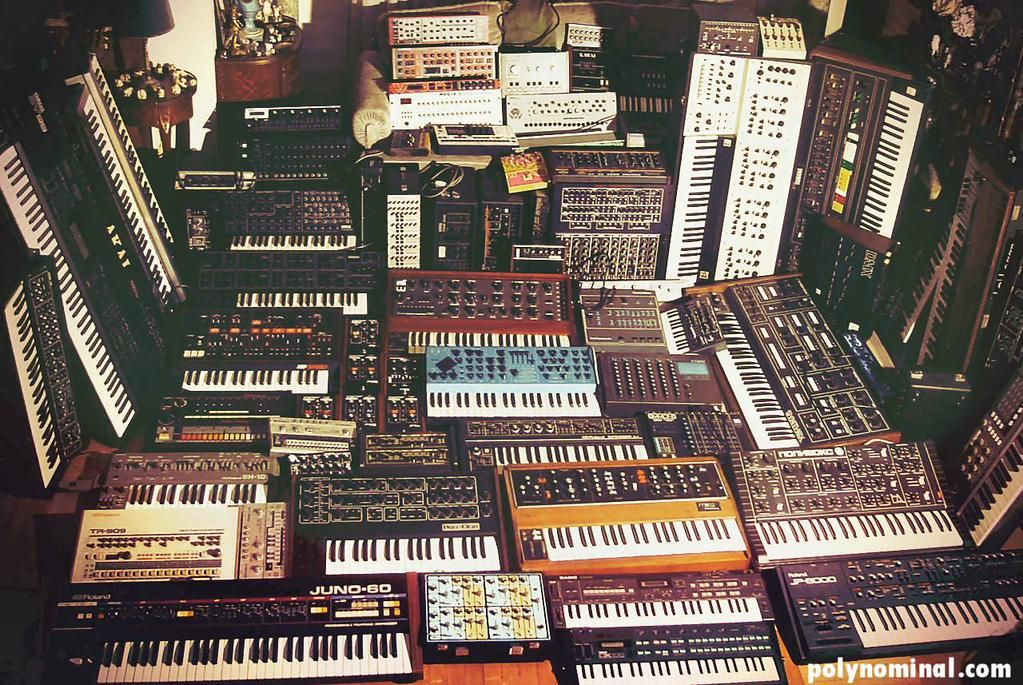 epic vintage synth collection
