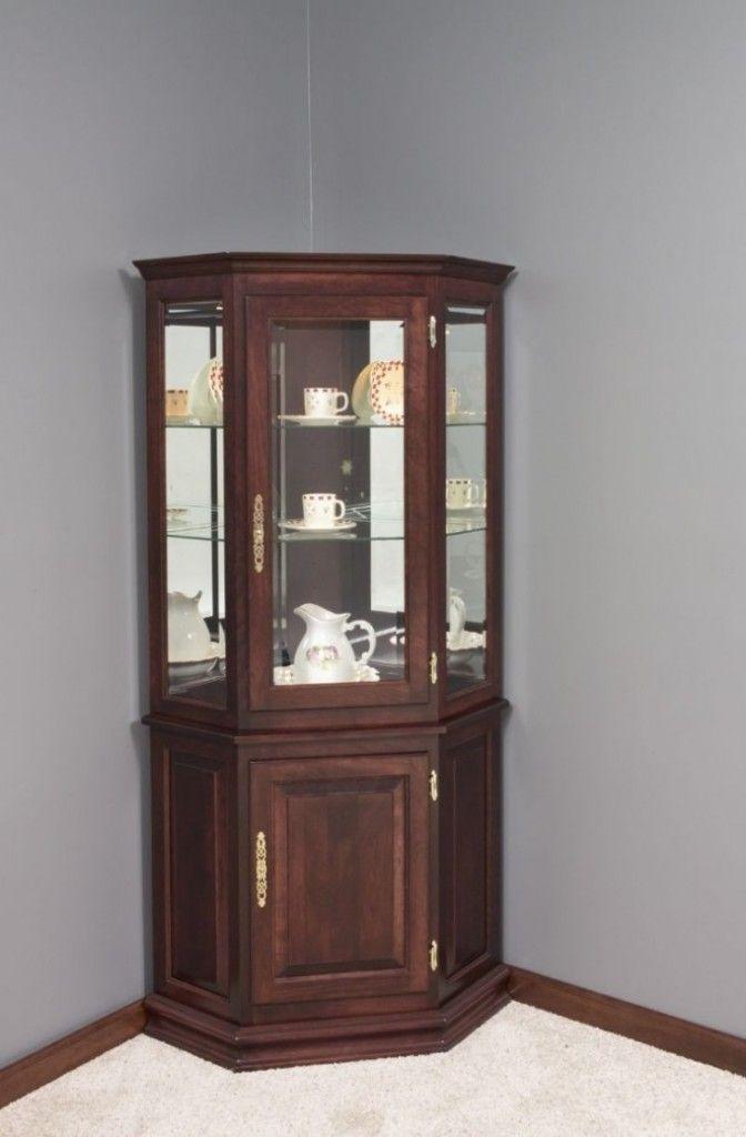 Wooden Small Corner Curio Cabinet Furniture | Furniture ...