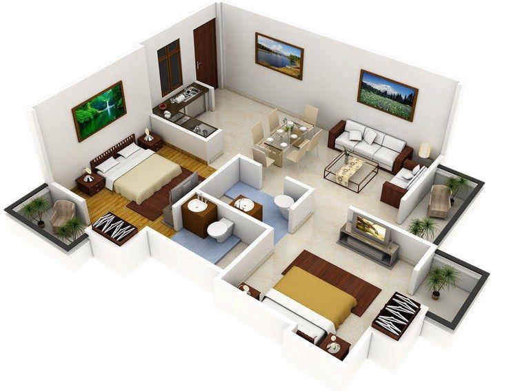 12 Plano casa 2 dormitorios 2 banos