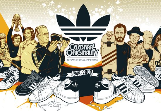 123klan Adidas Celebrate Originality 2009 Mural Seni Gaya