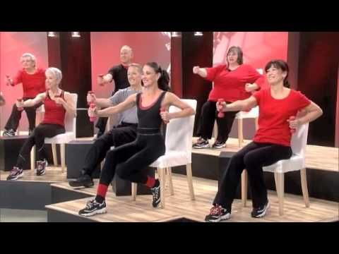 Chair Dancing Fitness Sit Down Tone Core Legs Dance Workout Dance Chair Exercises