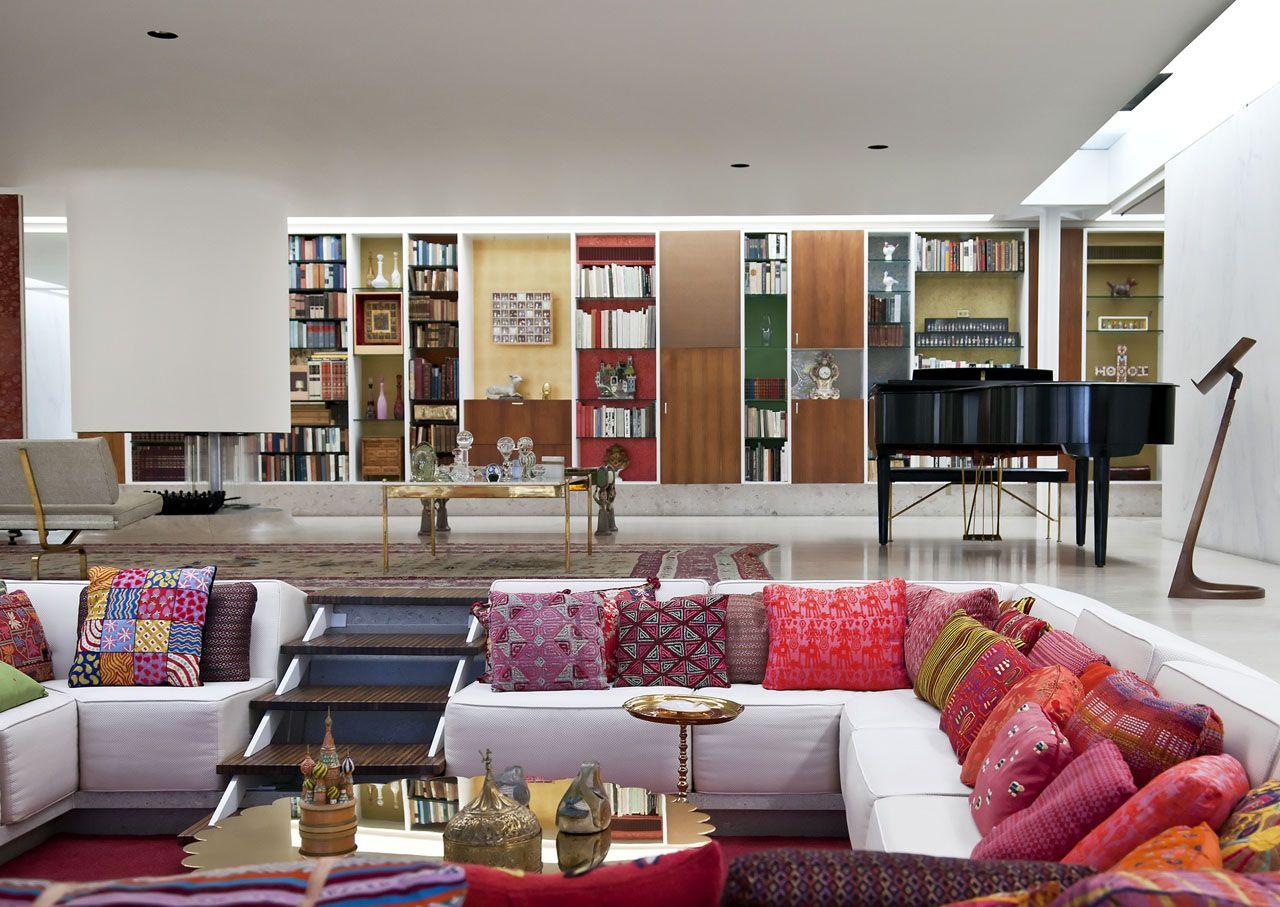 Living Room Furniture Indianapolis Eero Saarinens Miller House Credit Miller House And Garden
