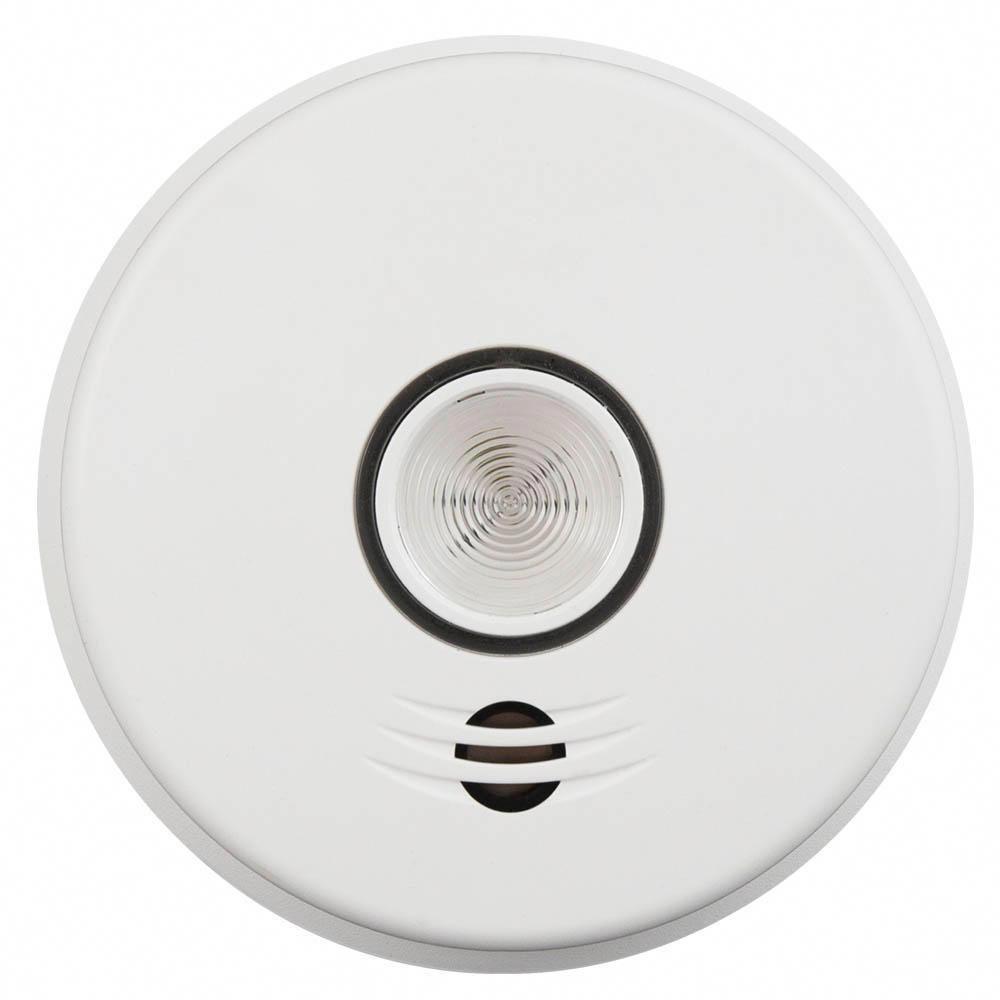 kidde 120 volt hardwired voice smoke alarm with emergency light intelligent wire free interconnect [ 1000 x 1000 Pixel ]