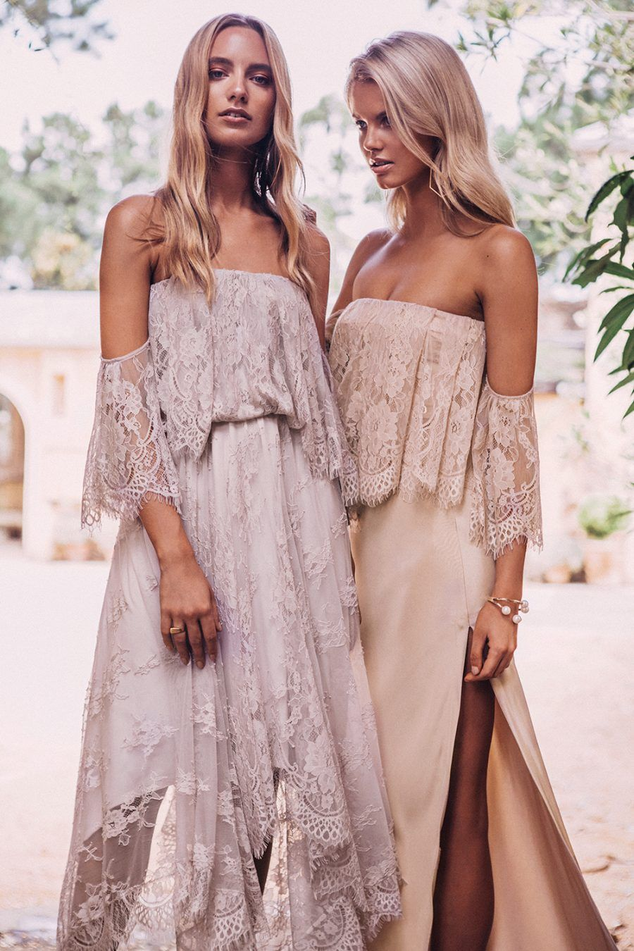 off-the-shoulder bridesmaid dresses by Grace Loves Lace | wedding ...