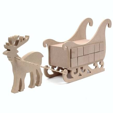 Wooden Reindeer Sleigh Advent Calendar - decorate yourself Projets