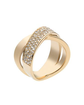 Michael Kors Pave Crystal X Ring Golden Would Make A Great