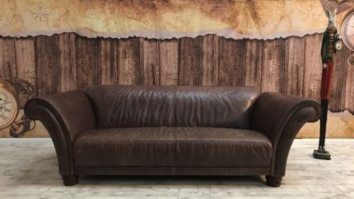 Michael Tyler For John Lewis Antique Vintage Leather Sofa Settee Couch Rrp 3990 Vintage Leather Sofa Settee Couch Leather Sofa