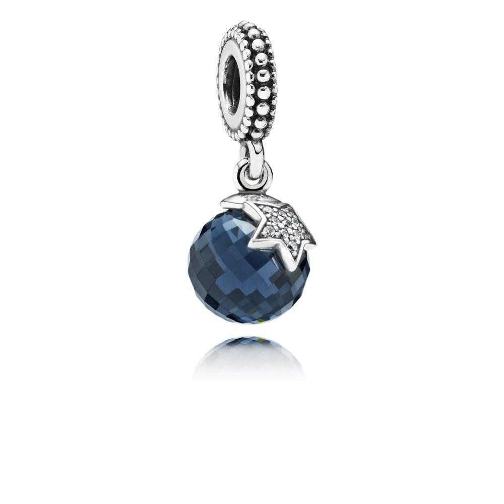 Charm Pendentif Lune et Etoile Bleu Nuit - Pandora FR | PANDORA e ...
