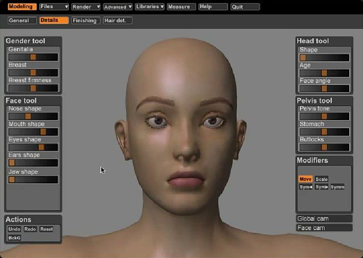 Make Human (3D modeling) Sculpture techniques, Face