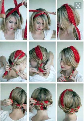 Unique Bndn Rockabilly Bandana Hairstyles For Short Hair Bandana Hairstyles With Bun Hairstyles With Bandana Scarf Hairstyles Medium Hair Styles Hair Styles