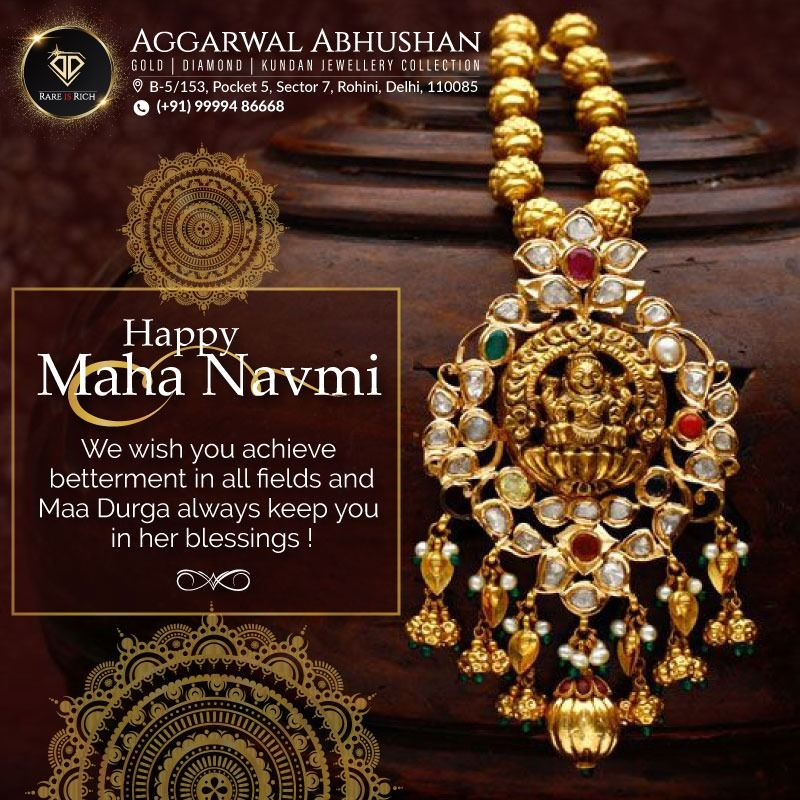 Happy Maha Navmi We Wish You Achieve Betterment In All Fields And Maa Durga Always Keep You In Her Blessings Ag Jewelry Collection Kundan Jewellery Durga