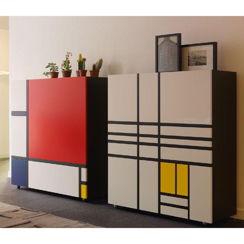 homage to mondrian 2 meuble de rangement cappellini bulles concept autour de mondrian. Black Bedroom Furniture Sets. Home Design Ideas