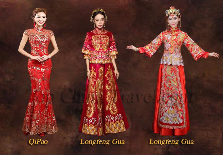 Chinese Wedding Dress Qipao Longfeng Gua Chinese Style Wedding Dress Chinese Wedding Dress Traditional Chinese Wedding Dress