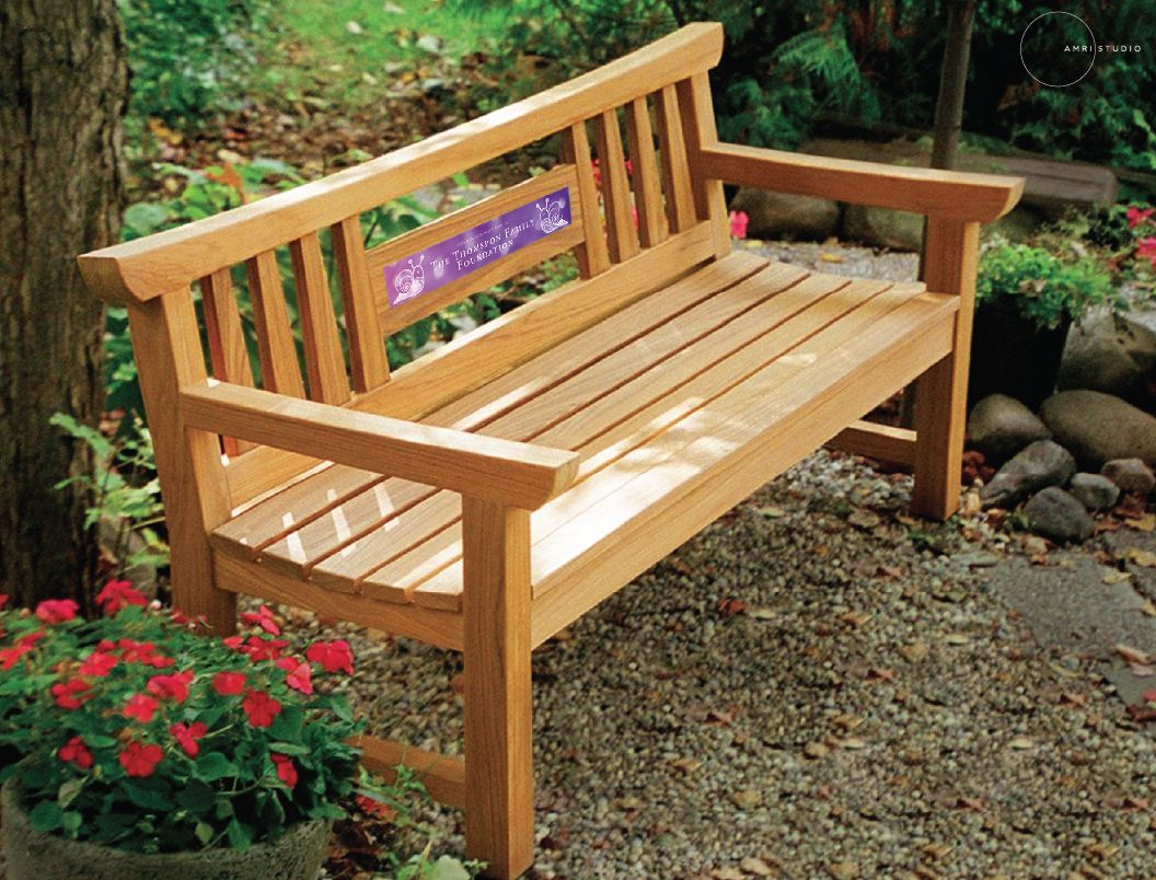Incredible Amri Studios Elegant Garden Bench Is Inset With A Donor Short Links Chair Design For Home Short Linksinfo