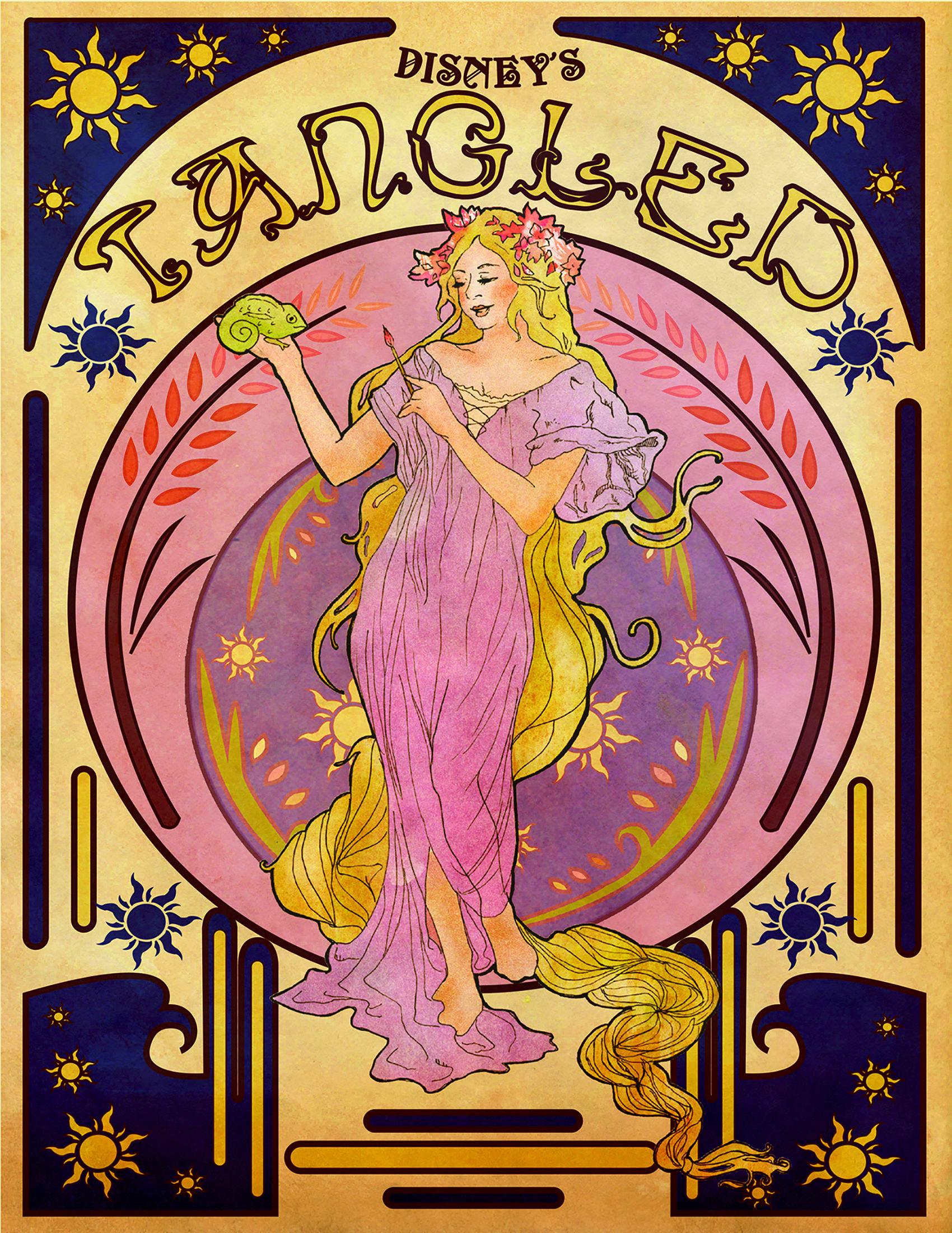 Art Nouveau Rapunzel by Elise Hickman http://www.pinterest.com/ebhickman94/