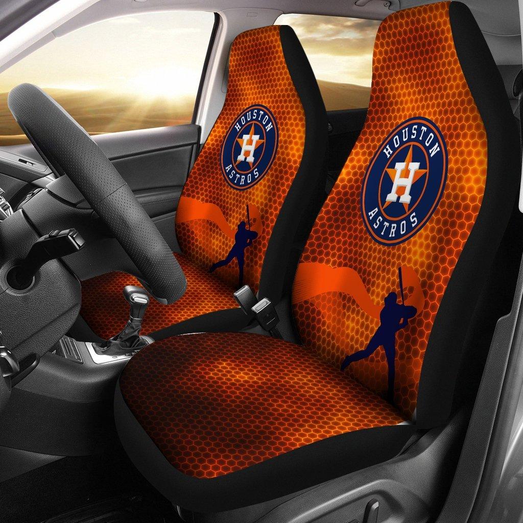 Houston Astros Car Seat Covers 2pcs