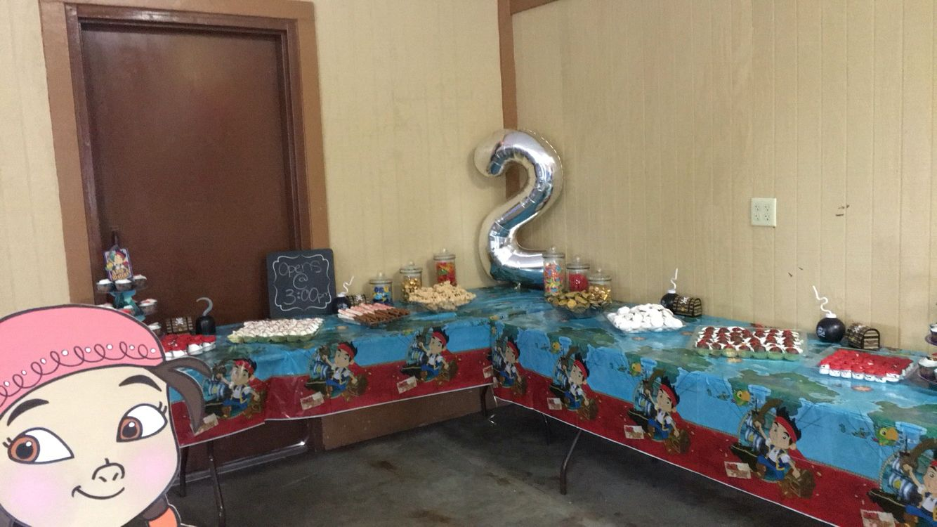 Dessert table! #pirate #jake #izzy #cubby #two
