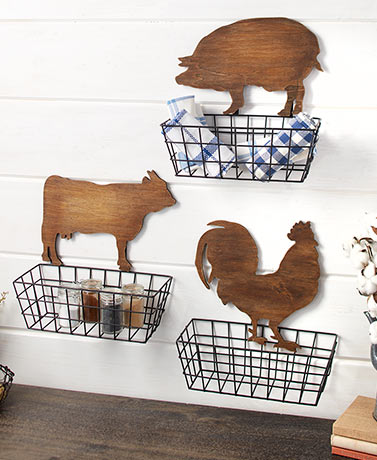 Affordable Country Farmhouse Decor Shop Now Lakeside Baskets On Wall Country Kitchen Decor Vintage Kitchen Decor