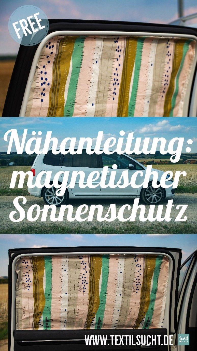 Nähanleitung: Magnetischen Sonnenschutz für's Auto nähen #wohnwagen