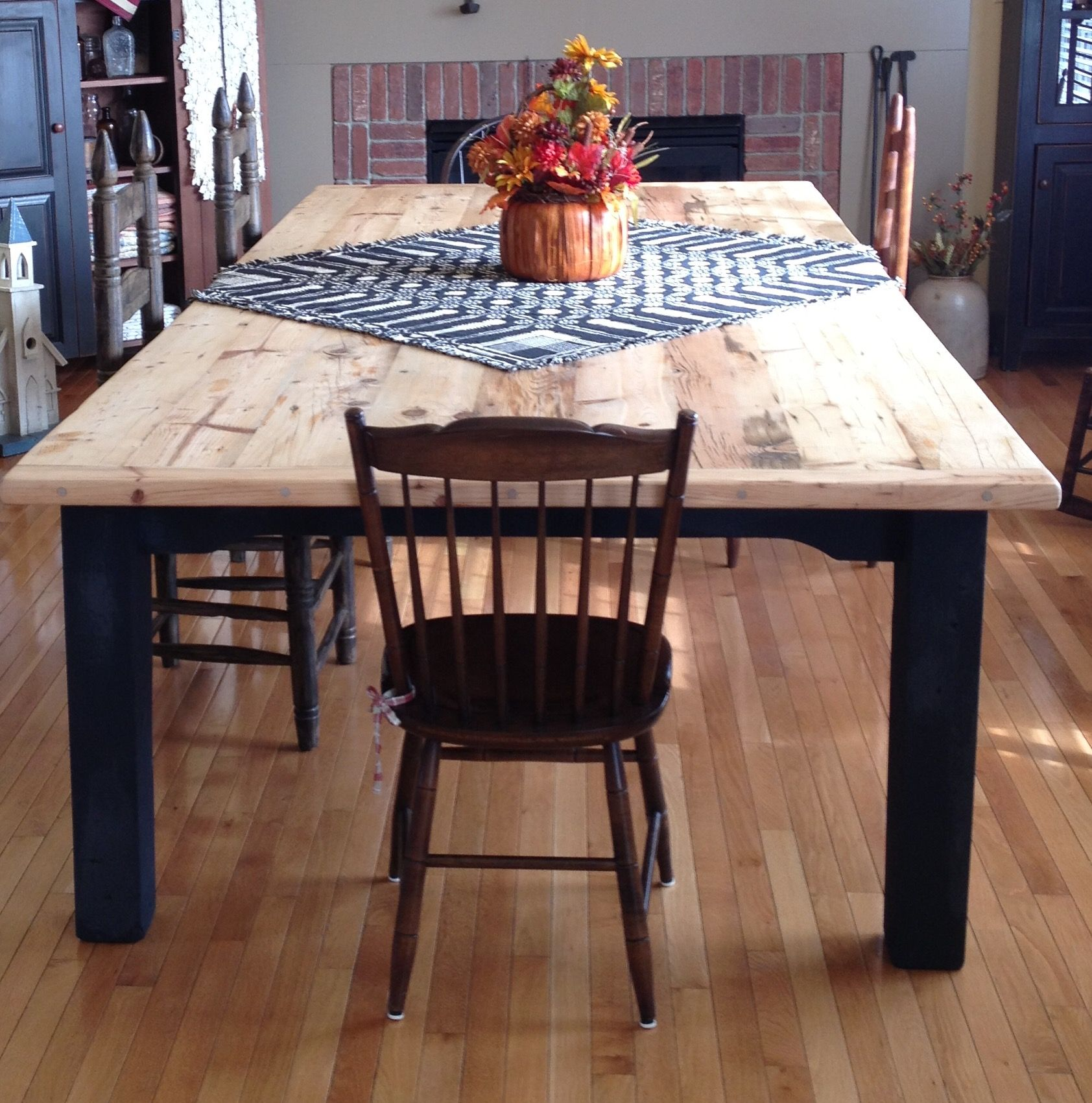 Made This 10 Foot Farm Table For Brother N Law C D S Friend Dining Table Rustic Dining Table Farm Table