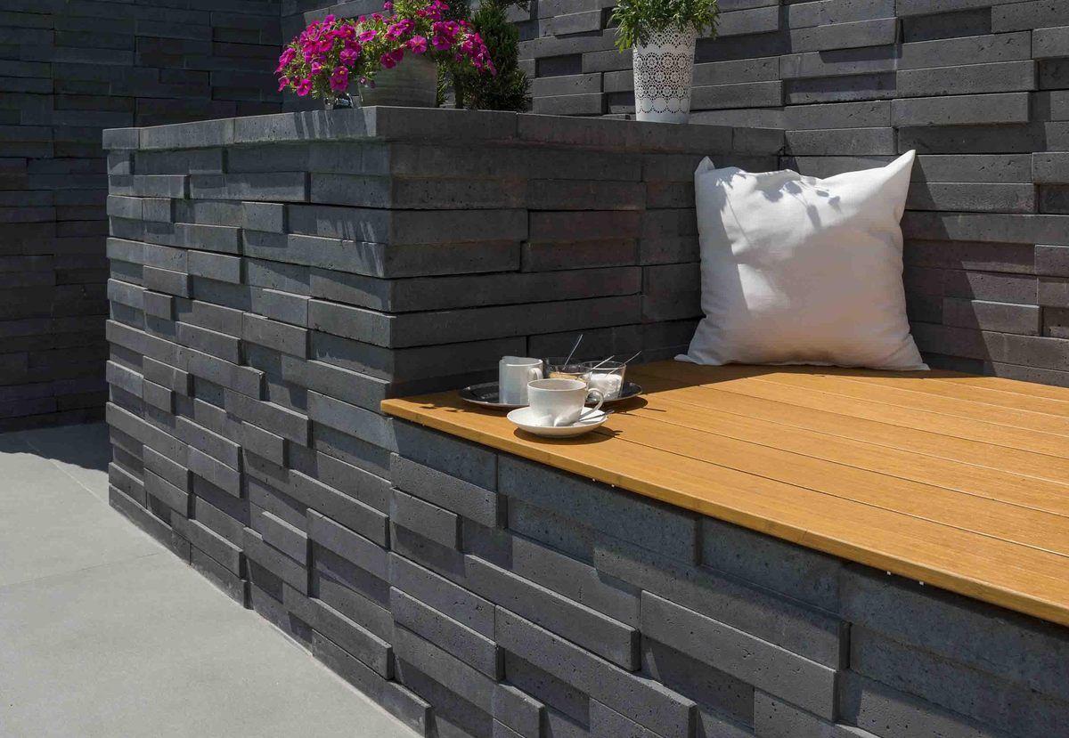 Basalo Schichtmauer Kann Baustoffwerke Garten Terrasse Mauer Gartengestaltung