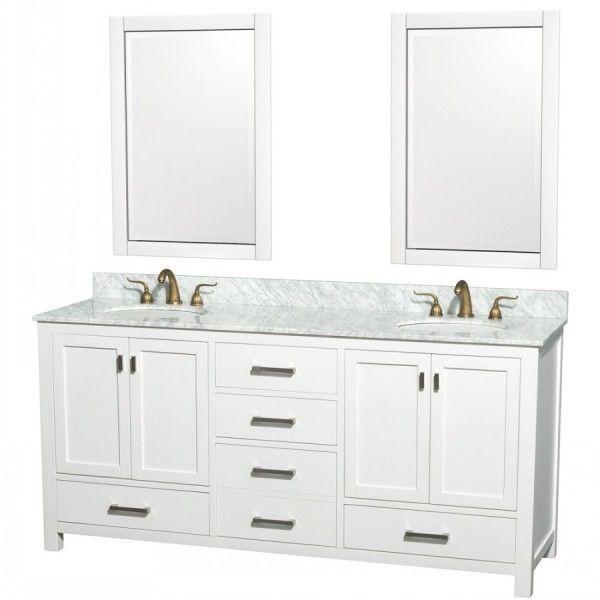 Wonderful White Bathroom Vanities And Sinks With Shaker Style
