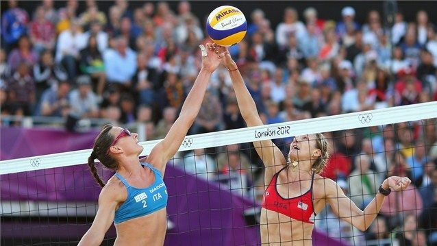 Via Olympics Usa En Route To Eliminating Italy In Women S Beach Volleyball 2012 Summer Olympics Olympics Schedule Beach Volleyball